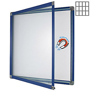 Marque generique Vitrine intérieur cadre bleu 12 feuilles A4 fond métal.