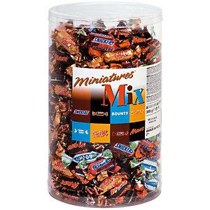 Mars Mini-barres chocolatées MIX - (Snikers, Bounty, Twix et Mars)- Boîte de 3 kg
