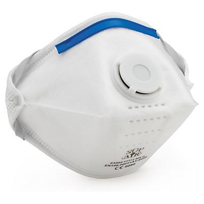 Máscara filtrante FFP3 económica com válvula