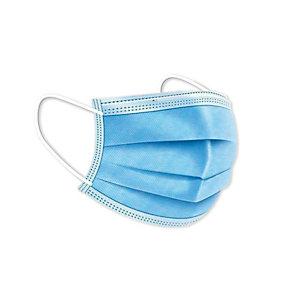 Mascarillas Quirúrgicas Desechables, con goma, Triple Capa, Tipo IIR, color azul, pack 50 unidades