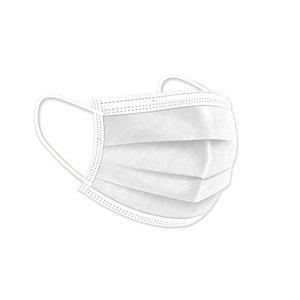 Mascarillas Quirúrgicas Desechables, con goma, Triple Capa, Tipo IIR, color blanco, pack 50 unidades
