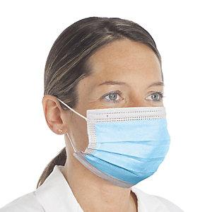 Mascherina chirurgica monouso a tre strati in TNT, GDA MASK 01, Prodotta in Italia, Dispositivo medico Tipo II (confezione 50 pezzi)