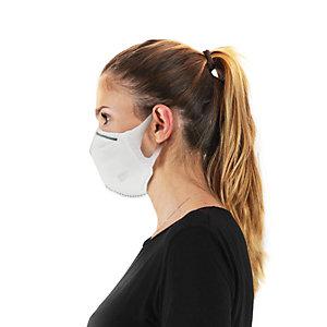 Mascherina facciale protettiva monouso KN95/FFP2 , Bianco ((Confezione 10 pezzi))