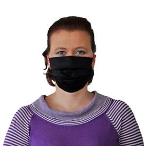 """Mascherina facciale tecnica """"Vespucci"""" in tessuto lavabile, con elastici, Nero"""