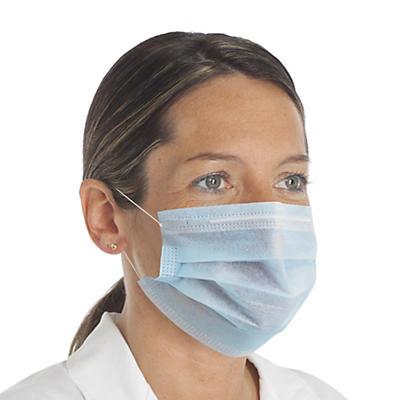 Masque chirurgical 3 plis classe 1 type 1 - boite de 50