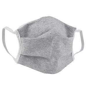 Masque de protection lavable 10 fois en tissu gris certifié UNS1 - Taille adulte