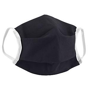Masque de protection lavable 10 fois en tissu noir certifié UNS1 - Taille adulte