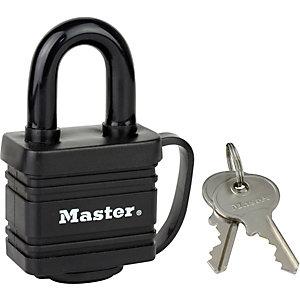 Master Lock Cadenas à clé - 40 mm avec couverture thermoplastique