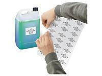 Matwitte etiketten in polyester