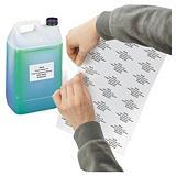 Matwitte etiketten van polyester