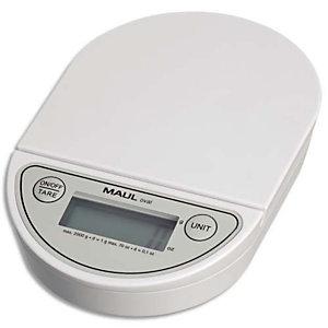 MAUL Pèse-lettre MAULoval électronique en plastique portée 2 Kg - Dim. 18 x 12 x 3 cm, Plateau 12 x 12 cm