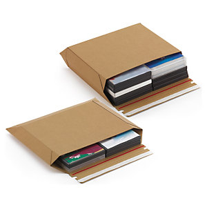 Maxi, brown, panel wrap cardboard mailers