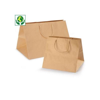 Maxi sac kraft à poignées torsadées##Extra grote kraftpapieren draagtas met gevlochten oren