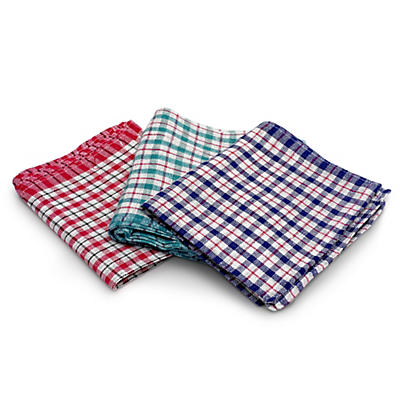Maxima Assorted Cotton Tea Towels – Pack of 10