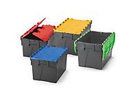 Mehrweg-Boxen mit farbigem Deckel