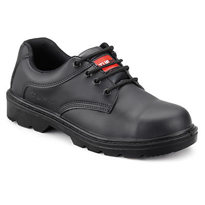 Mens smooth front safety shoes