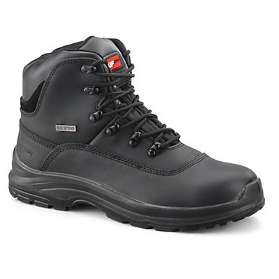 Mens waterproof safety boots with protective midsole