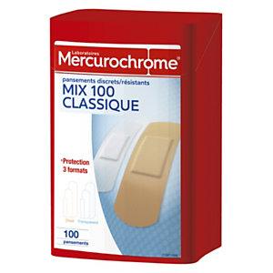 Mercurochrome 2 Boîtes de 100 pansements 1er secours