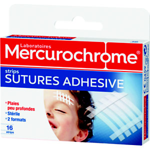 Mercurochrome Boîte de strips sutures adhésives