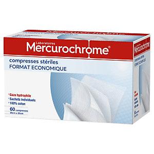 Mercurochrome Compresse  Stérile - Boite de 60 compresses
