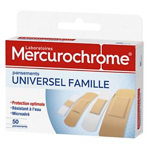 Mercurochrome Pansements - Universel Famille - boite de 50