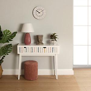 Mesa auxiliar Corduroy, madera de pino y MDF, 90 x 30 x 81 cm