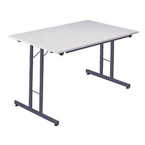 Mesa plegable 120 x 80 gris / patas grises Multiuso