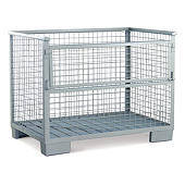 Mesh cage pallets