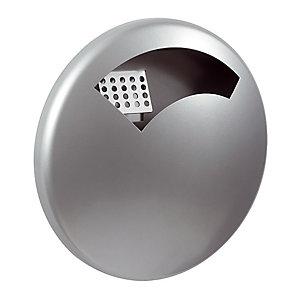 Metaalgrijze wandasbak voor buiten Rossignol 0,5 L