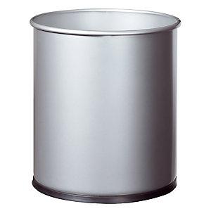 Metalen kantoorvuilnisbak Papéa Rossignol 15 L grijs