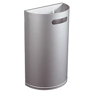 Metalen vuilnisbak 40 L grijs metaal