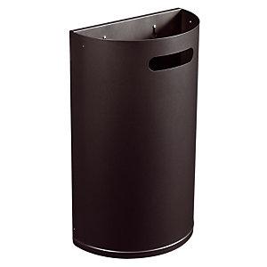 Metalen vuilnisbak 40 L mangaangrijs