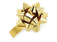 Metallic gift bows