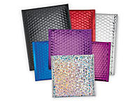Metallic gloss bubble postal bags