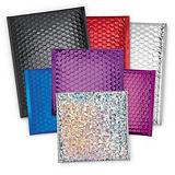 Metallic gloss bubble postal bags