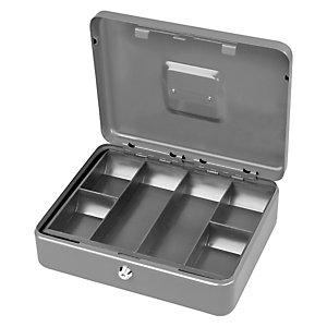 METALPLUS Cassetta portavalori Secur - 20x16x9 cm - grigio chiaro - Metalplus