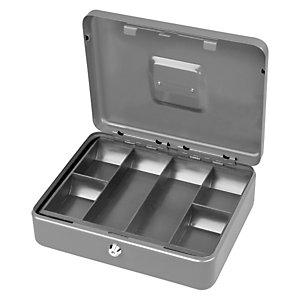 METALPLUS Cassetta portavalori Secur - 25x18x9 cm - grigio chiaro - Metalplus