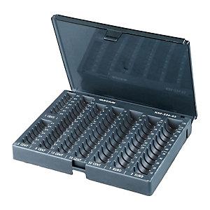 METALPLUS Vaschetta portamonete Aroka con coperchio - 23x19x7 cm - grigio - Metalplus
