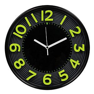 METHODO 3D, Orologio da parete, Nero/Giallo