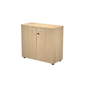 Meuble bas Wood 2 portes battantes H.82,5 cm Chêne
