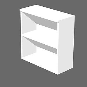 Meuble bas Wood sans portes H.82.5 cm - Blanc