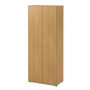 Meuble haut NF Environnement portes hautes - H.202 x L. 80 x P. 48 cm - Hêtre - Portes Hêtre