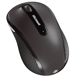 Microsoft Wireless Mobile Mouse 4000 - Souris - Bluetrack - 4 boutons - Sans fil - USB - Noir