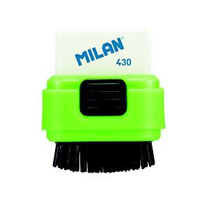 MILAN Eraser & Brush Compact 430 Goma de borrar con cepillo y con recambio de goma