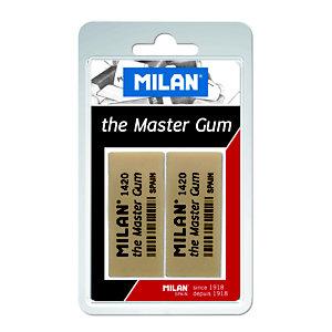 MILAN Master Gum Goma de borrar, Blister de 2
