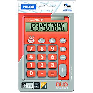 MILAN Milan Blíster calculadora Duo naranja 10 dígitos teclas grandes