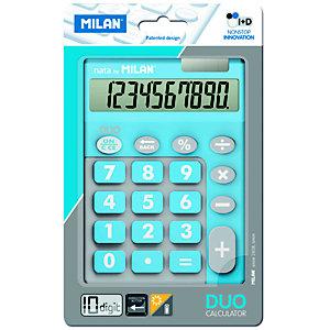 MILAN Milan Blíster calculadora Duo azul 10 dígitos teclas grandes
