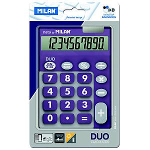 MILAN Milan Blíster calculadora Duo lila 10 dígitos teclas grandes