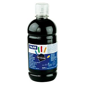 MILAN Pintura de dedos escolar botella de 500 ml. negra