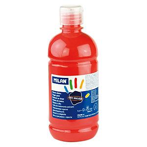 MILAN Pintura de dedos escolar botella de 500 ml. roja